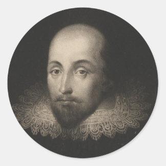 Playwright William Shakespeare by Cornelius Jansen Classic Round Sticker