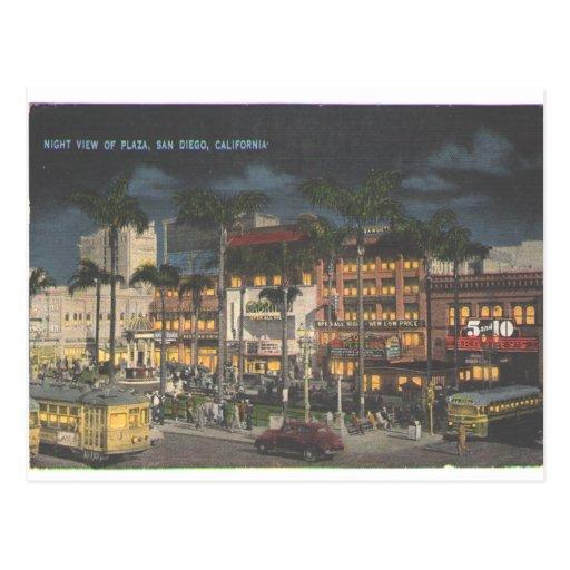Plaza 1945 de San Diego Postales