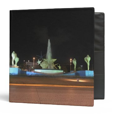 everydaylifesf Plaza Caracol Fountain, Cancun Binder