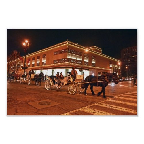 Plaza Carriage Rides, Kansas City, Missouri Poster