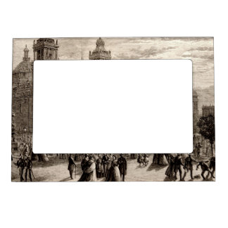 Plaza Constitucion Cathedral Mexico City Vintage Magnetic Photo Frame