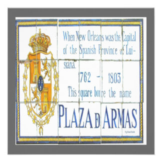 Plaza D'Armas Tiles Personalized Invitation
