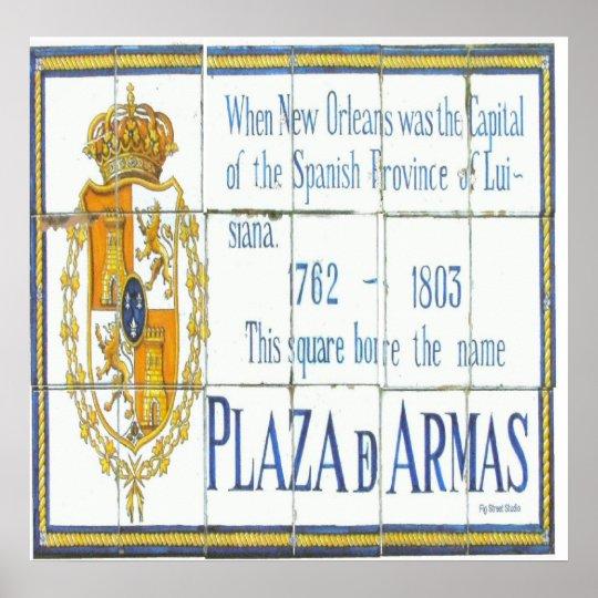 Plaza D'Armas Tiles Poster