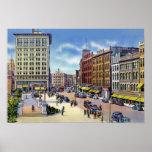 Plaza de ayuntamiento de Worcester Massachusetts Poster
