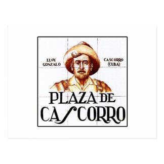 Plaza de Cascorro, Madrid Street Sign Postcard