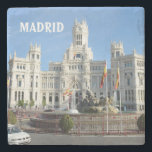 "Plaza de Cibeles, Madrid Stone Coaster<br><div class=""desc"">Plaza de Cibeles,  Madrid,  Spain. Images from Spain collection</div>"