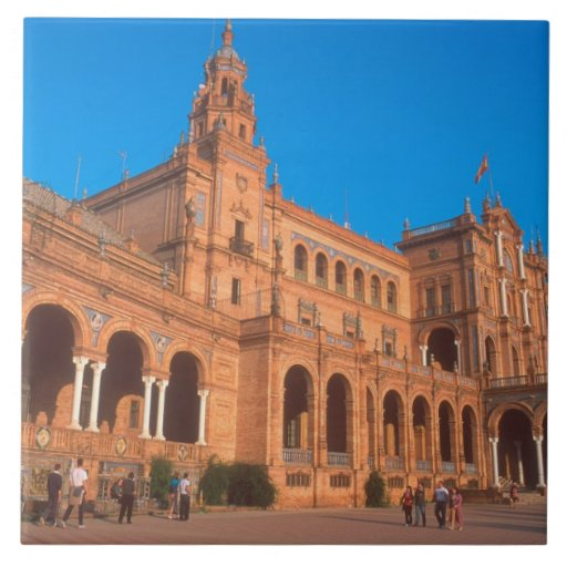 Plaza de Espana en Sevilla, España Tejas