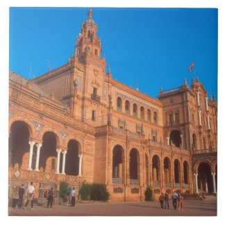 Plaza de Espana in Seville, Spain. Ceramic Tile