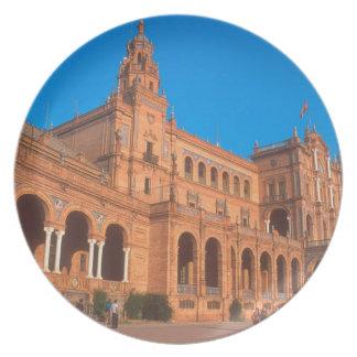 Plaza de Espana in Seville, Spain. Dinner Plate