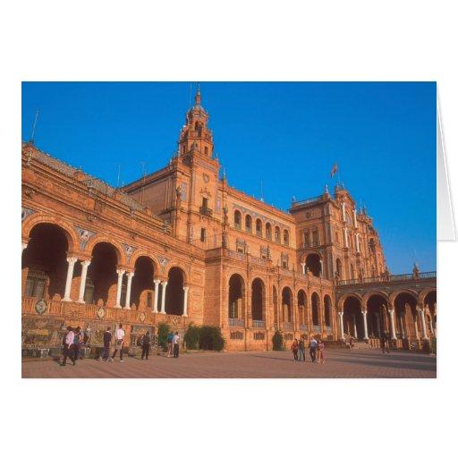 Plaza de Espana in Seville, Spain. Greeting Card