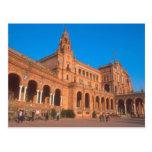Plaza de Espana in Seville, Spain. Postcard