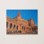 Plaza de Espana in Seville, Spain. Puzzles