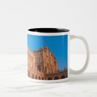 Plaza de Espana in Seville, Spain. Two-Tone Coffee Mug