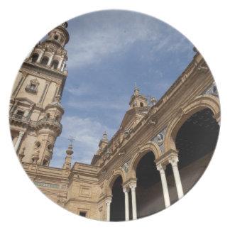 Plaza de Espana, Seville, Andalusia, Spain Plate