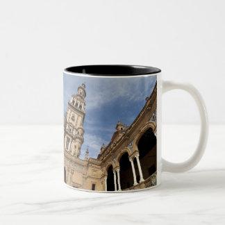 Plaza de Espana, Seville, Andalusia, Spain Two-Tone Coffee Mug