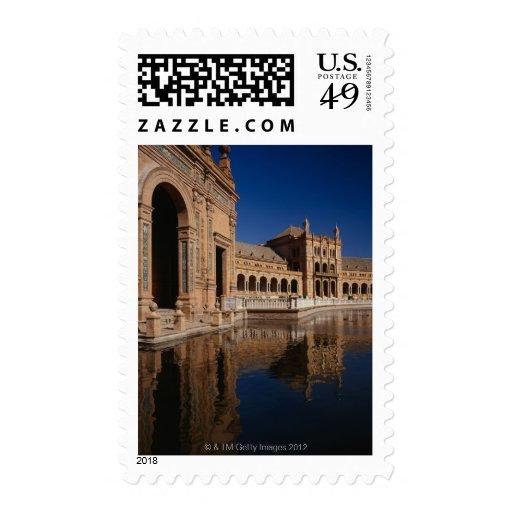 Plaza de Espana, Seville, Spain Stamp
