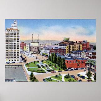 Plaza de la ciudad de Asheville Carolina del Norte Impresiones