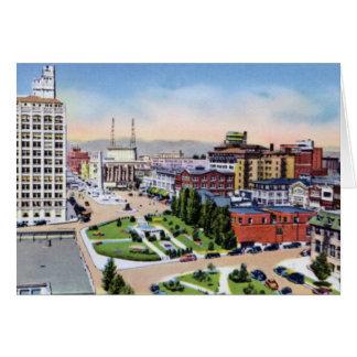 Plaza de la ciudad de Asheville Carolina del Norte Tarjeton
