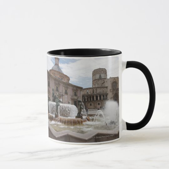 Plaza De La Virgin And Basilica De Virgen Mug