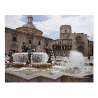Plaza De La Virgin And Basilica De Virgen Postcard