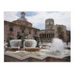 Plaza De La Virgin y Basilica De Virgen Tarjeta Postal