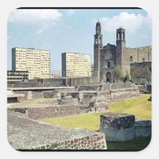 Plaza de las Tres Culturas, 14th-20th century Square Sticker