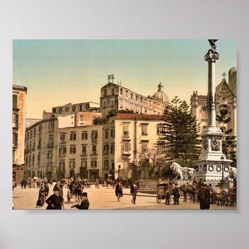 Plaza de Martiri, obra clásica Photochro de Póster