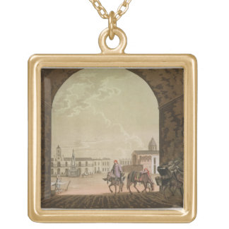 Plaza de Mayo Buenos Aires Argentina from Le C Personalized Necklace