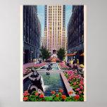 Plaza de New York City, Nueva York en la roca 1940 Poster
