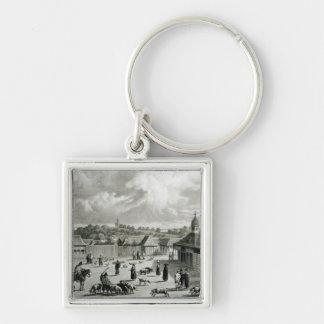 Plaza de San-Carlos de Chiloe, 1835  ] Keychain