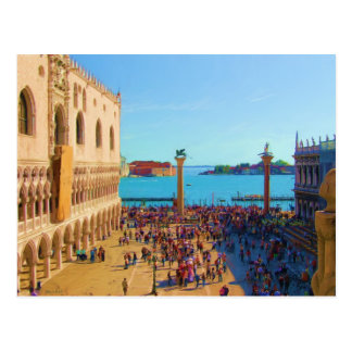 Plaza de San Marco - Venezia Italia Tarjeta Postal
