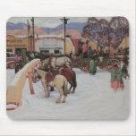 Plaza de Taos, invierno Mousepad 1921 Alfombrilla De Ratón
