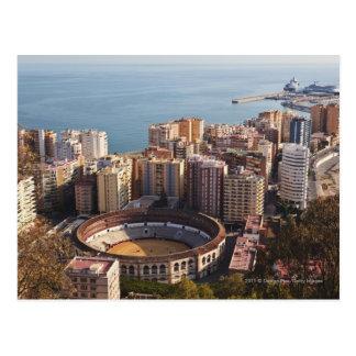 Plaza de toros y puerto de Malagueta del La Tarjetas Postales