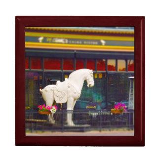 Plaza del club de campo del caballo de T ang del c Cajas De Recuerdo