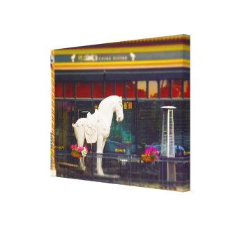 Plaza del club de campo del caballo de T ang del c Impresion De Lienzo