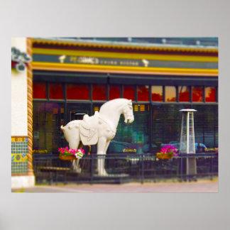 Plaza del club de campo del caballo de T ang del c Posters