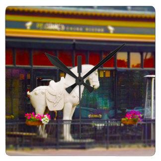 Plaza del club de campo del caballo de T ang del c Relojes De Pared