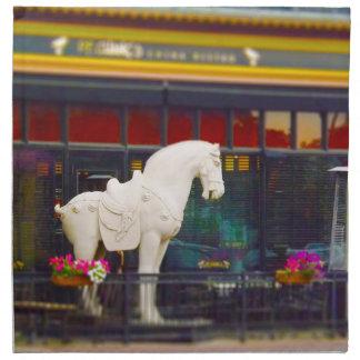 Plaza del club de campo del caballo de T ang del c Servilletas
