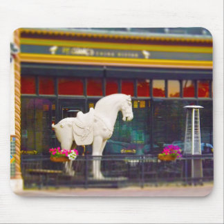 Plaza del club de campo del caballo de T ang del c Tapetes De Raton