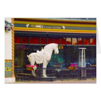 Plaza del club de campo del caballo de T ang del c Tarjeton