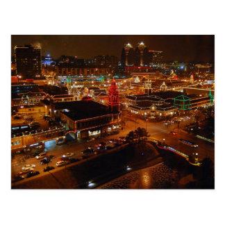 Plaza del club de campo, Kansas City, luces del Postales