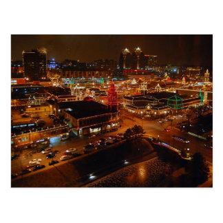 Plaza del club de campo, Kansas City, luces del Tarjeta Postal