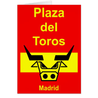 Plaza del Toros Tarjeta De Felicitación