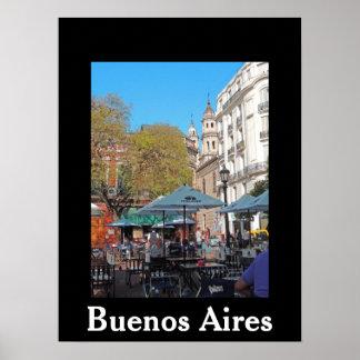 Plaza Dorrego en una tarde reservada - Buenos Aire Póster