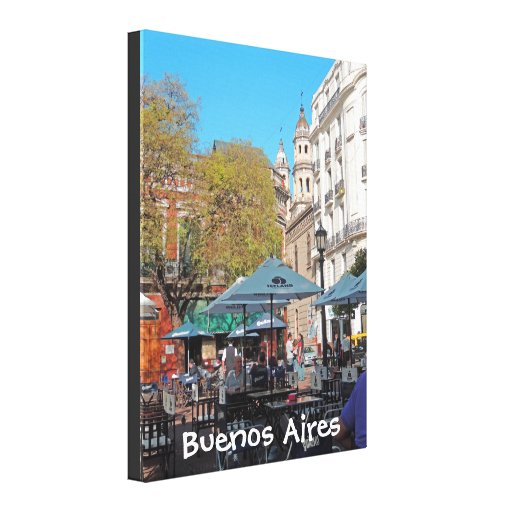 Plaza Dorrego in the Afternoon Gallery Wrap Canvas