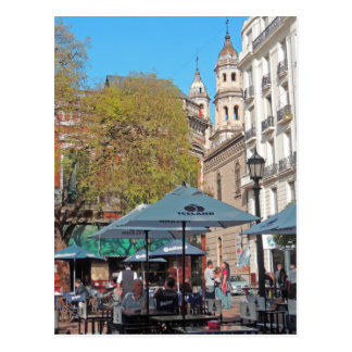 Plaza Dorrego in the Afternoon Postcard