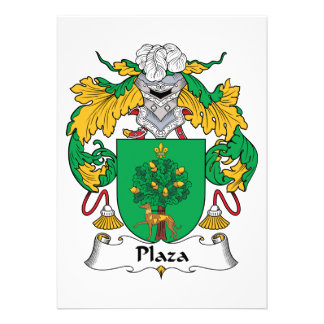 Plaza Family Crest Announcements
