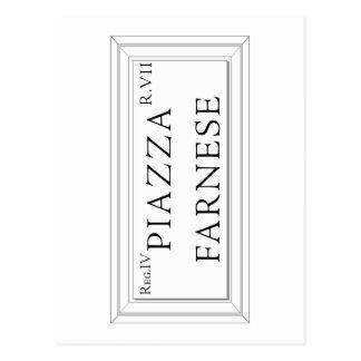 Plaza Farnese, placa de calle de Roma Postales