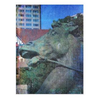 Plaza Horse Fountain Details Postcard