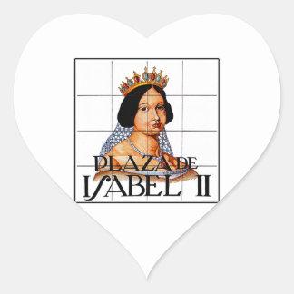 Plaza Isabel II, Madrid Street Sign Heart Sticker